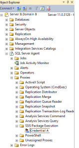 Add Credential to Sql Agent Proxy for SSIS